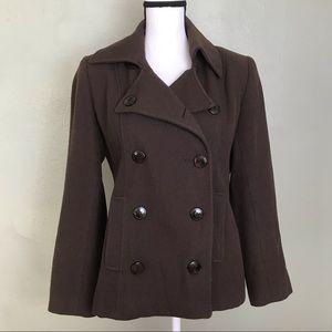 Harold's Brown Pea Coat Size M